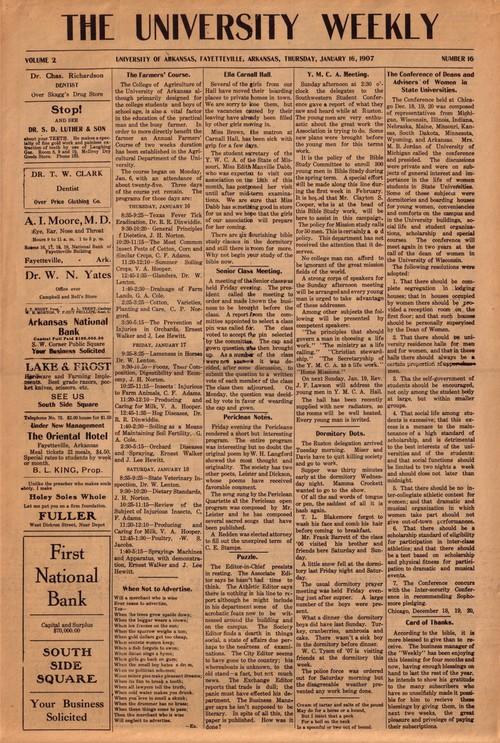 1907 University Weekly